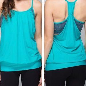 LULULEMON No Limits Blue Tropics Tank Top Shirt